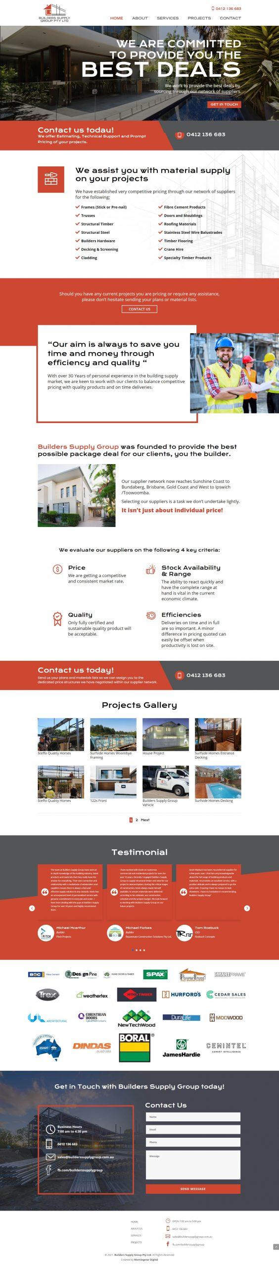 BuildersSupplyGroup Homepage