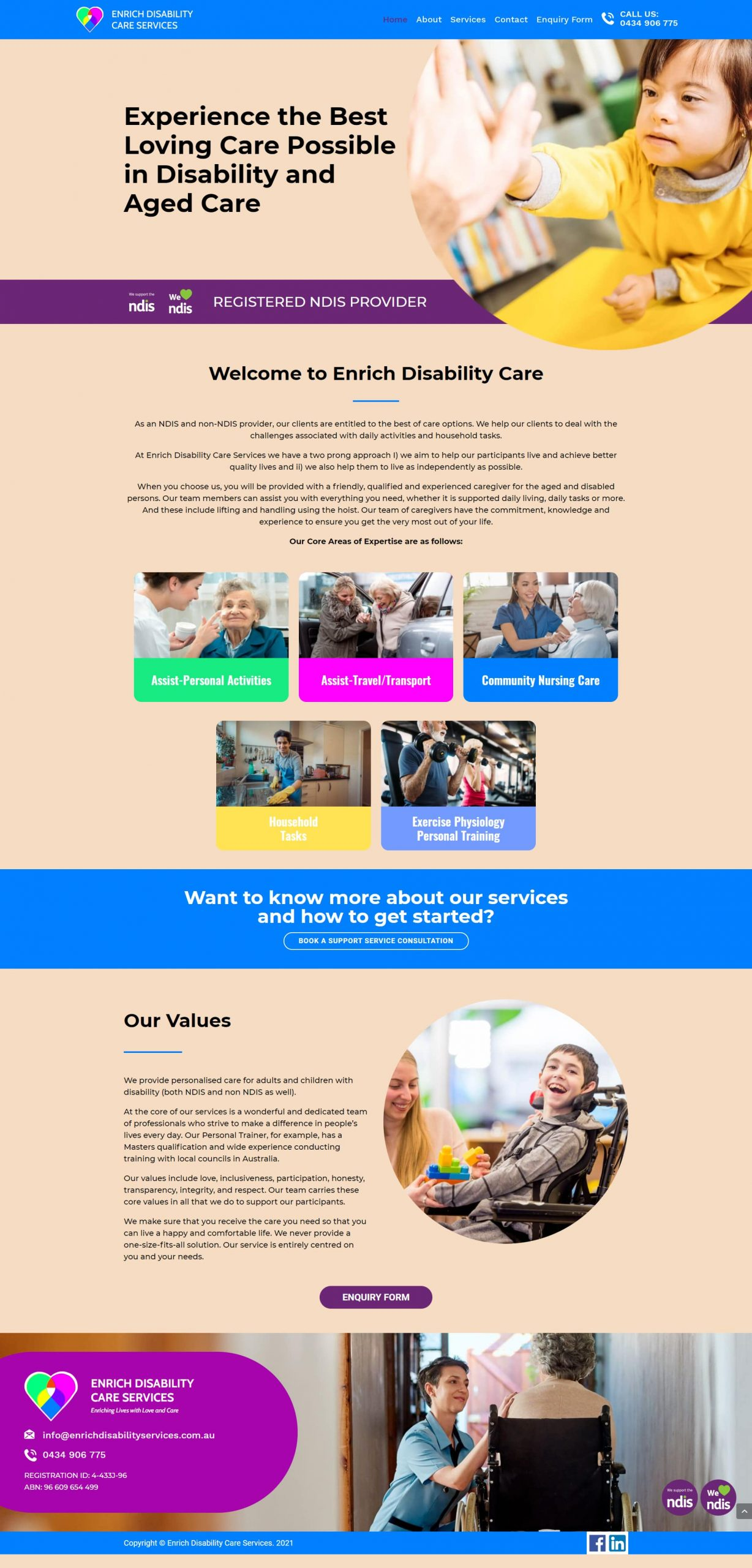 EnrichDisabilityServices Homepage