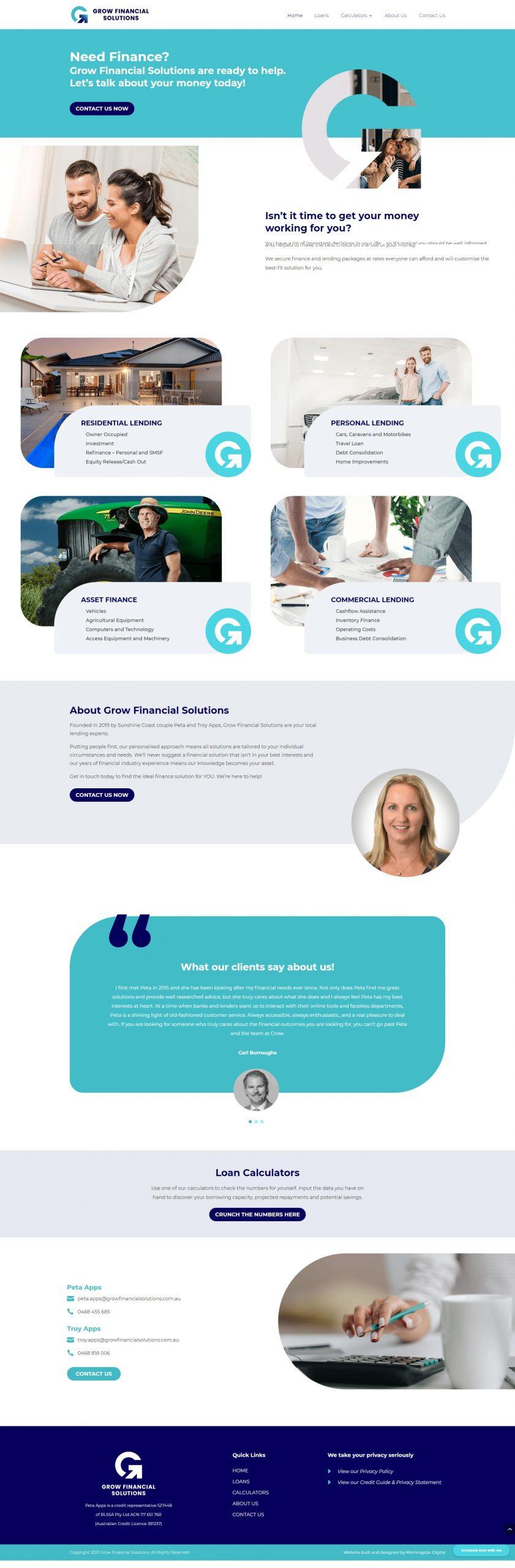 GrowFinancial Homepage