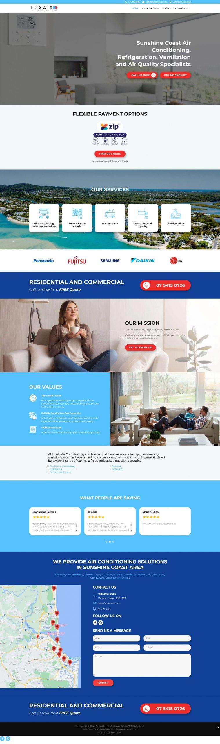 Luxair Homepage