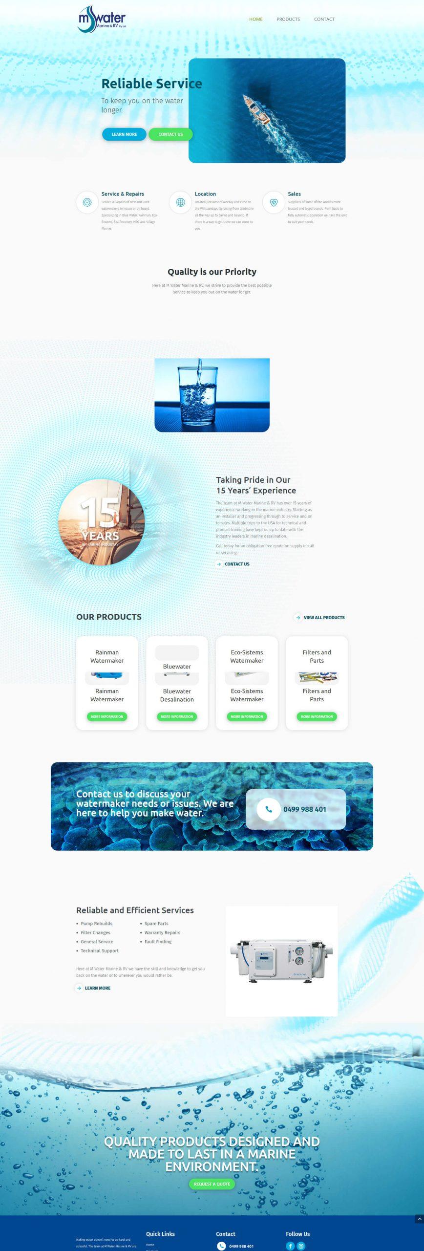 MWater Homepage