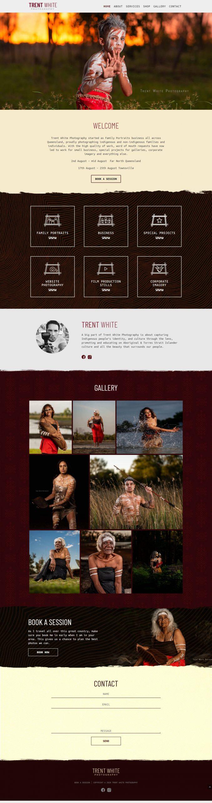 TrentWhite Homepage