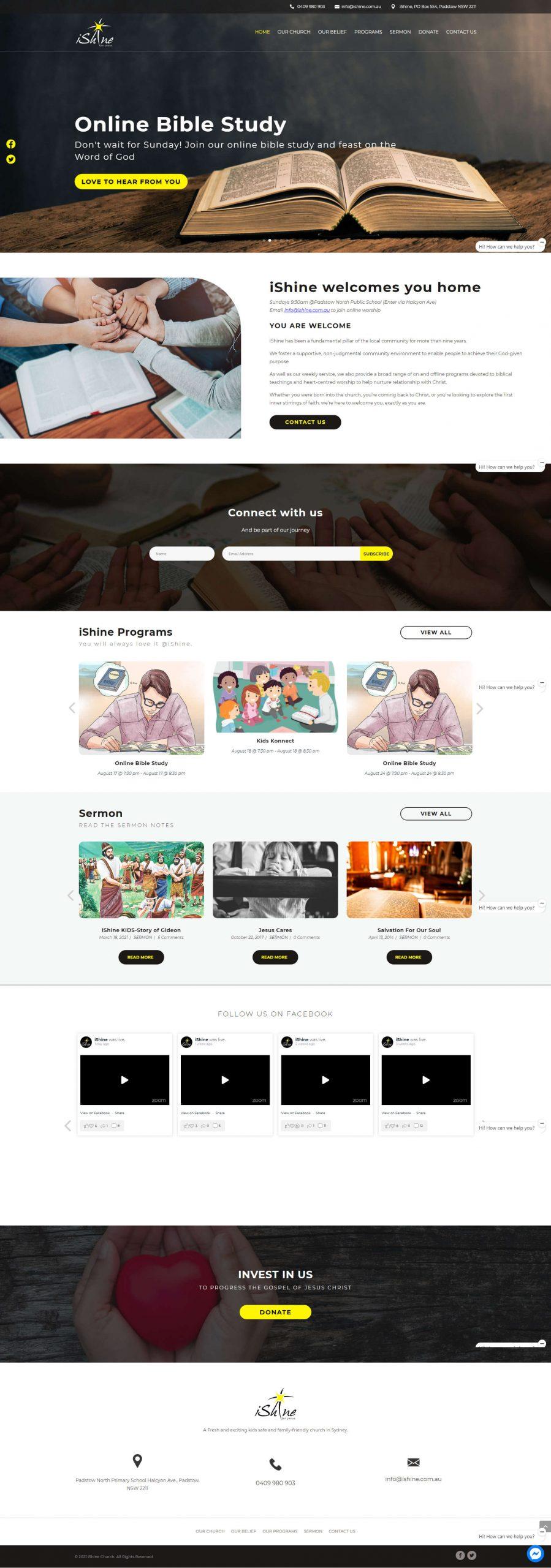iShine Homepage