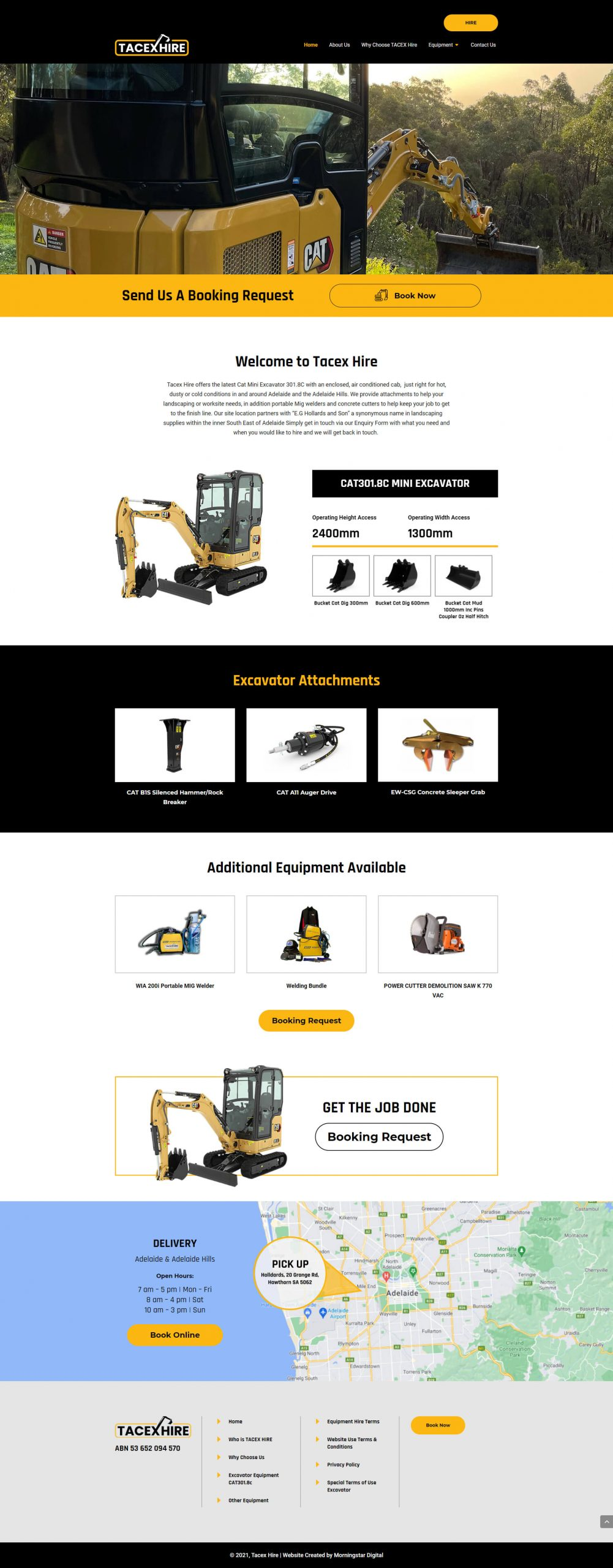 TacexHire Homepage
