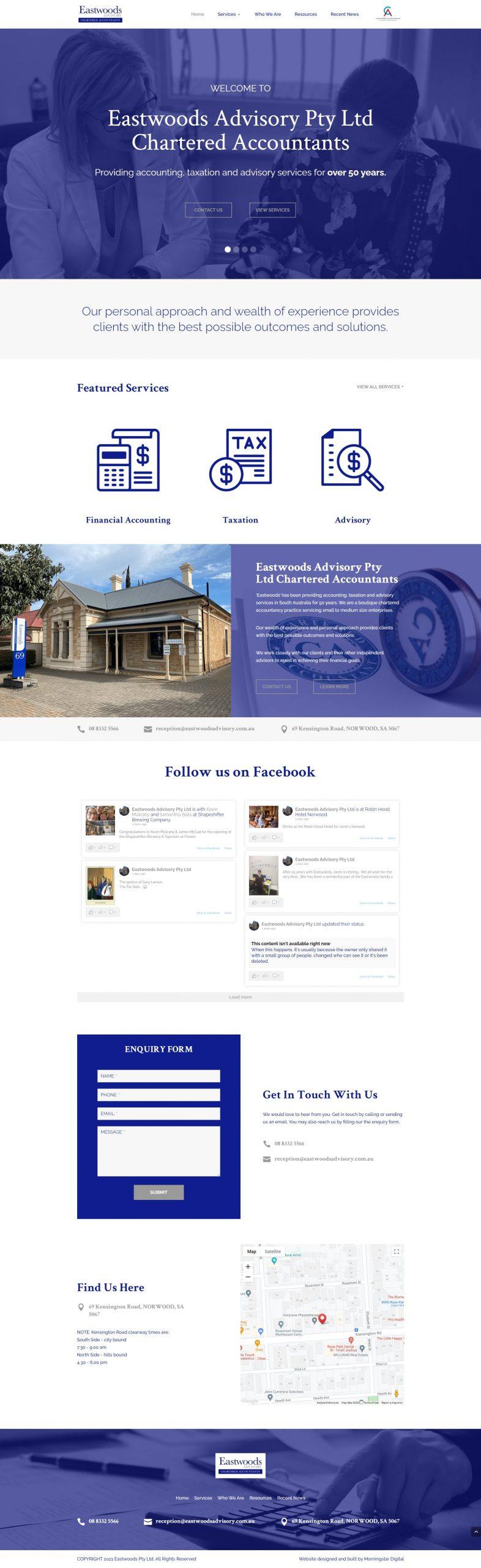 EastwoodsAdvisory Homepage